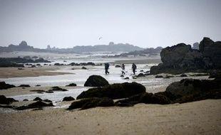 La plage de Granville, en Basse-Normandie.