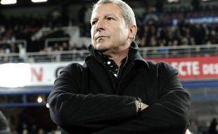 Rolland Courbis, l'entraîneur de Montpellier, le 10 janvier 2014 au stade de la Mosson.