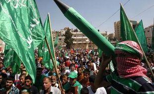 Un Palestinien membre du mouvement islamiste Hamas, le 29 août 2014 à Hebron