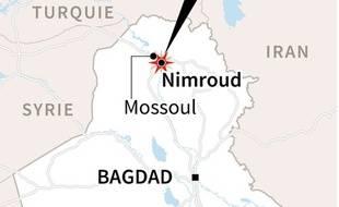 Localisation du site de Nimroud, en Irak