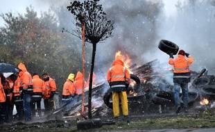 Les salariés de l'aciérie d'Ascoval, en 2018.