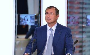 Martin Bouygues sur le plateau de LCI, La chaîne d'information en continu dont il est propriétaire