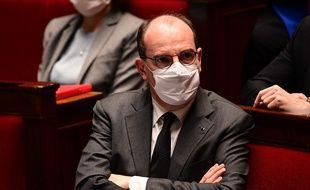 Jean Castex à l'Assemblée nationale, le 9 mars 2021 à Paris.