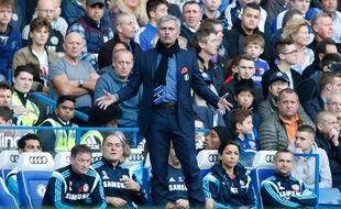 José Mourinho, l'entraîneur de Chelsea, le 1er novembre 2014, contre QPR, à Stamford Bridge.