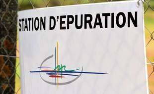 Une station d'épuration dans le village de Saint-Maurice (Isère). (illustration)