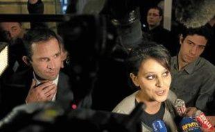 Najat Vallaud-Belkacem, ici à côté de Benoît Hamon, pourrait intégrer le gouvernement.