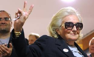 Bernadette Chirac le 19 mars lors du premier tour des élections départementales à Brive-la-Gaillarde.