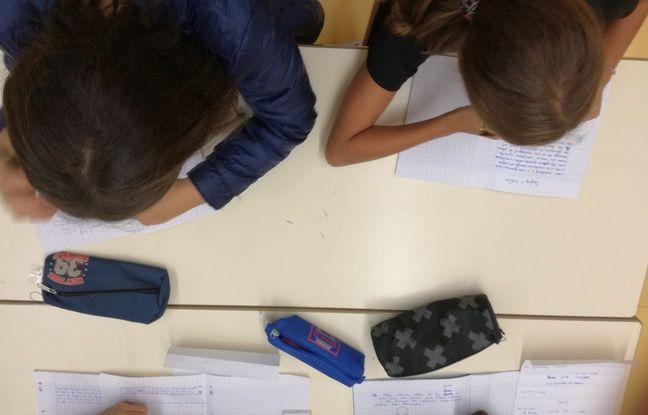Exercice d'écriture libre, le jogging d'écriture, pour Noémie et Lyna en stage de réussite d'été au collège Rouget-de-Lisle de Schiltigheim.