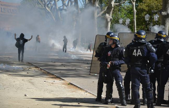 Tensions sur l'esplanade, à Montpellier.