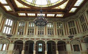 Le Grand hall du Palais de la Bourse, qui sera rouvert au public
