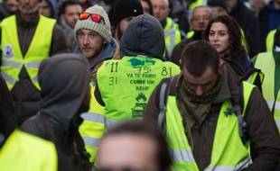 Des manifestants  «gilets jaunes» à Toulouse ce samedi 5 janvier 2018.