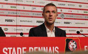 Le président du Stade Rennais Nicolas Holveck.
