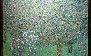 «Rosiers sous les arbres«, de Klimt, au musée d'Orsay.