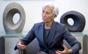 Christine Lagarde, présidente du FMI, durant un entretien à l'AFP le 6 juillet 20l6 à Washington