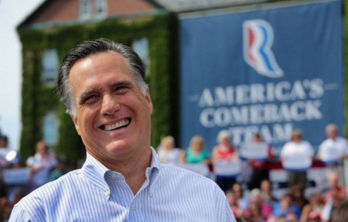 Sur le seul week-end dernier, M. Romney a obtenu quelque sept millions de dollars auprès de donateurs privés dans le Massachusetts (nord-est), Etat dont il fut le gouverneur mais qui vote d'habitude démocrate aux consultations nationales. – John Moore afp.com