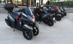 """Les scooters sont disponibles dans les """"zones Troopy"""" 24/24."""