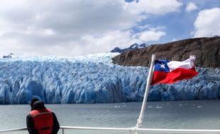 Le glacier millénaire Grey, au sud du Chili.