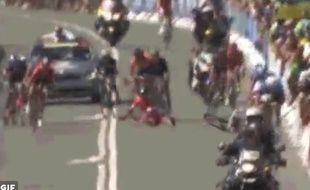 Nacer Bouhanni a chuté lors des championnats de France