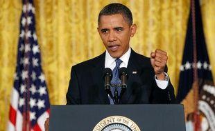 Barack Obama, lors d'une conférence de presse à la Maison Blanche, le 10 septembre 2010
