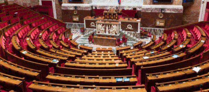 L'hémicycle de l'Assemblée nationale, vide, à Paris. (archives)