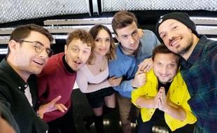 Cyprien, Norman, Natoo, Ludovik, McFly et Carlito dans « True Story »