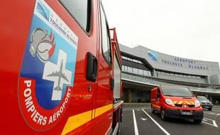Illustration des camions de pompiers de l'aeroport de Toulouse-Blagnac.