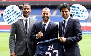 Nasser Al-Khelaifi et Patrick Kluivert pour le mercato du PSG