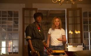 Lashana Lynch et Brie Larson interprètent Maria Rambeau et Carol Danvers dans «Captain Marvel».