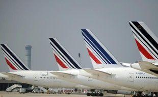 Des avions de la compagnie Air France à l'aéroport Charles de Gaulle, en 2014