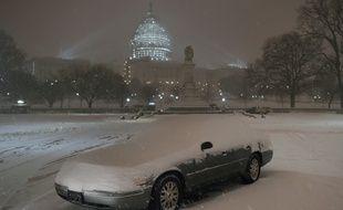 La tempête Jonas s'est abattue sur la ville de Washington DC, aux Etats-Unis, ce 22 janvier 2016.