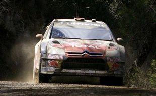 50e victoire en Coupe du monde des rallyes pour Sébastien Loeb lors de l'épreuve de Chypre le 15 mars 2009.