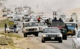 Les rebelles ont fui Ajdabiya, hier.