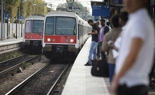 Illustration de mesure de ponctualité sur le RER.