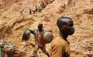Une mine d'or en République démocratique du Congo en 2009.
