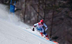 Un skieur aux JO de Pyeongchang