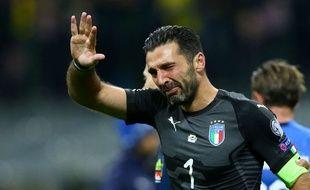 Gianluigi Buffon en pleurs après l'élimination de l'Italie.