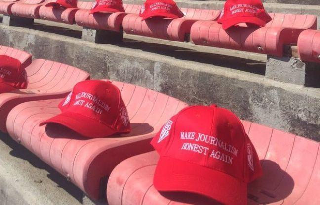 «Make Journalism Honest Again»... Le club de rugby de Biarritz s'inspire de Trump pour critiquer le journal «Sud Ouest»