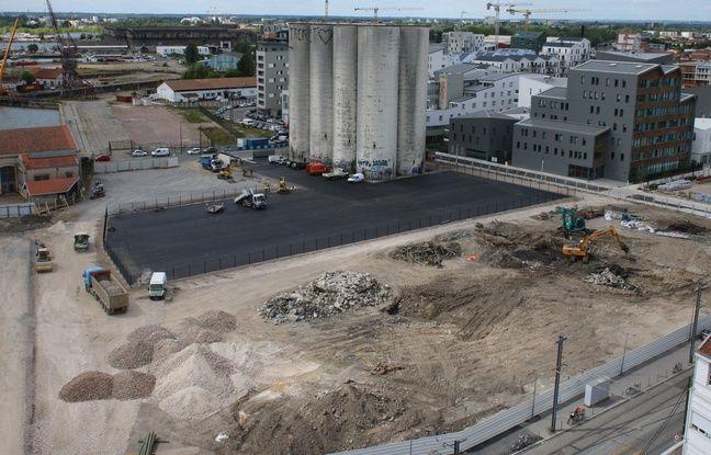 Le 23 mai 2016, travaux sur l'ilot fourriere, qui accueillera une halle de marchés, un parking et des bureaux