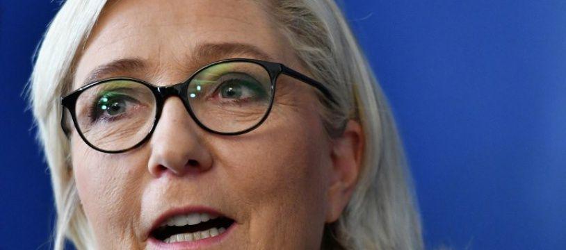 Marine Le Pen, le 8 octobre 2018 à Rome en Italie.
