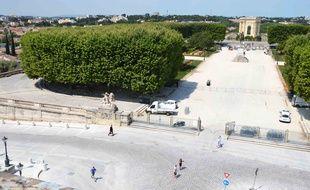 L'avant-place royale du Peyrou, à Montpellier.