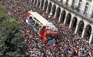 La marche des fiertés à Paris le 30 juin 2018.