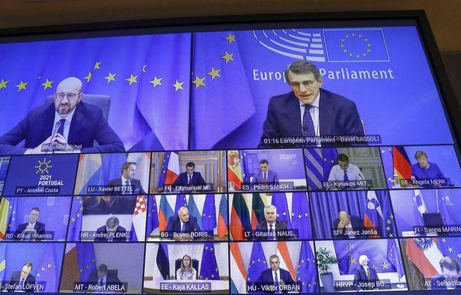 648x415 lors sommet virtuel president conseil europeen charles michel haut gauche appele dirigeants relacher restrictions contre coronavirus 25 fevrier 2021