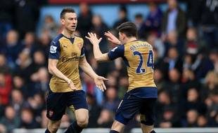 Laurent Koscielny buteur avec Arsenal, le 9 avril 2016.