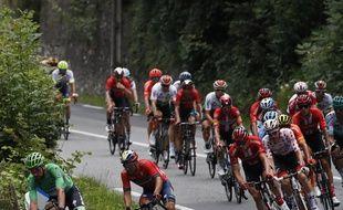 Les hommes de tête lors de la 12e étape du Tour de France.