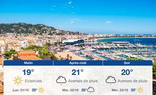 Météo Cannes: Prévisions du dimanche 20 octobre 2019
