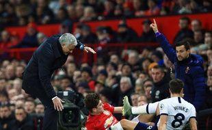 José Mourinho et Tottenham se sont inclinés à Old Trafford, le 4 décembre 2019.