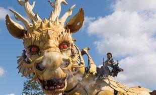 Le chaval-dragon nantais de la compagnie La Machine conçu dans le même esprit que le Minotaure toulousain.