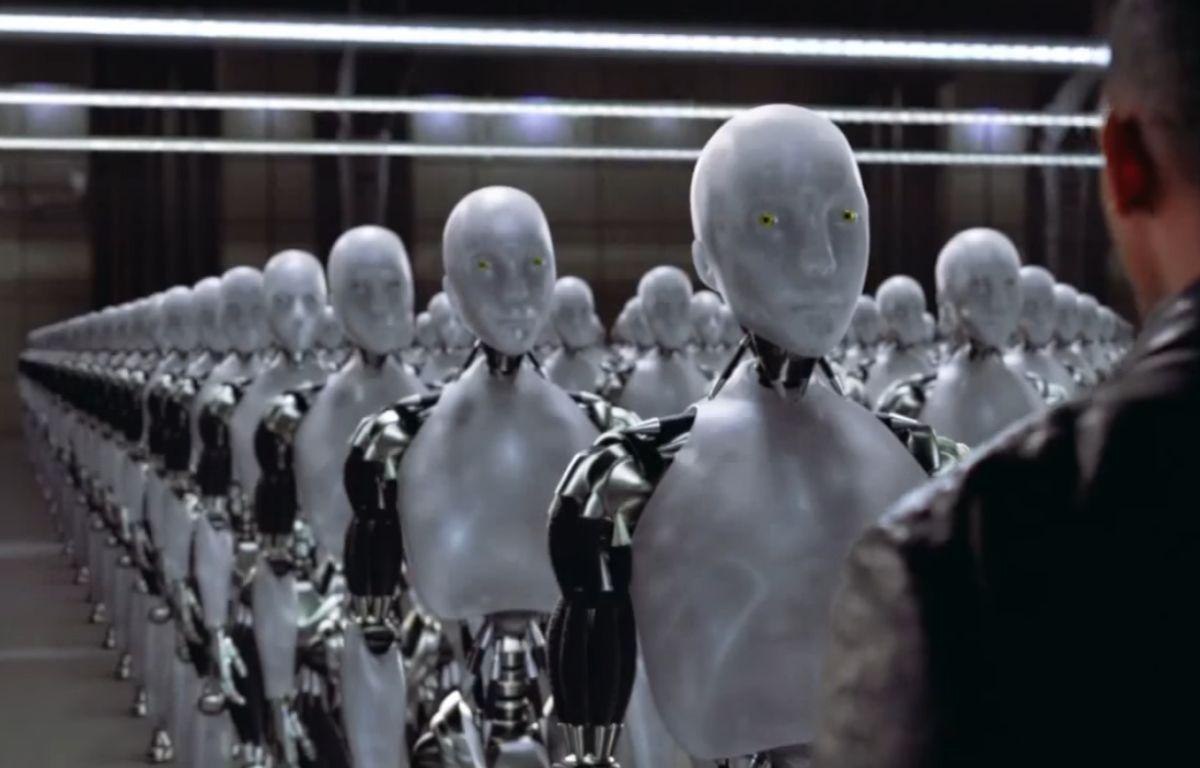 Dans le film «I, Robot», des Intelligences artificielles se rebellent pour prendre le pouvoir sur les humains – Capture Youtube