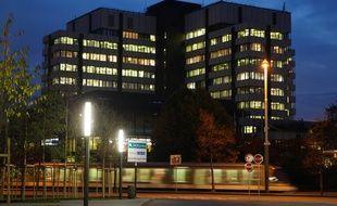 Le centre administratif la nuit, à Strasbourg (illustration).