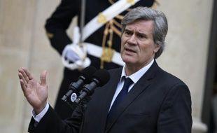 Stéphane Le Foll à la sortie du Conseil des ministres le 4 janvier 2015 à l'Elysée à Paris